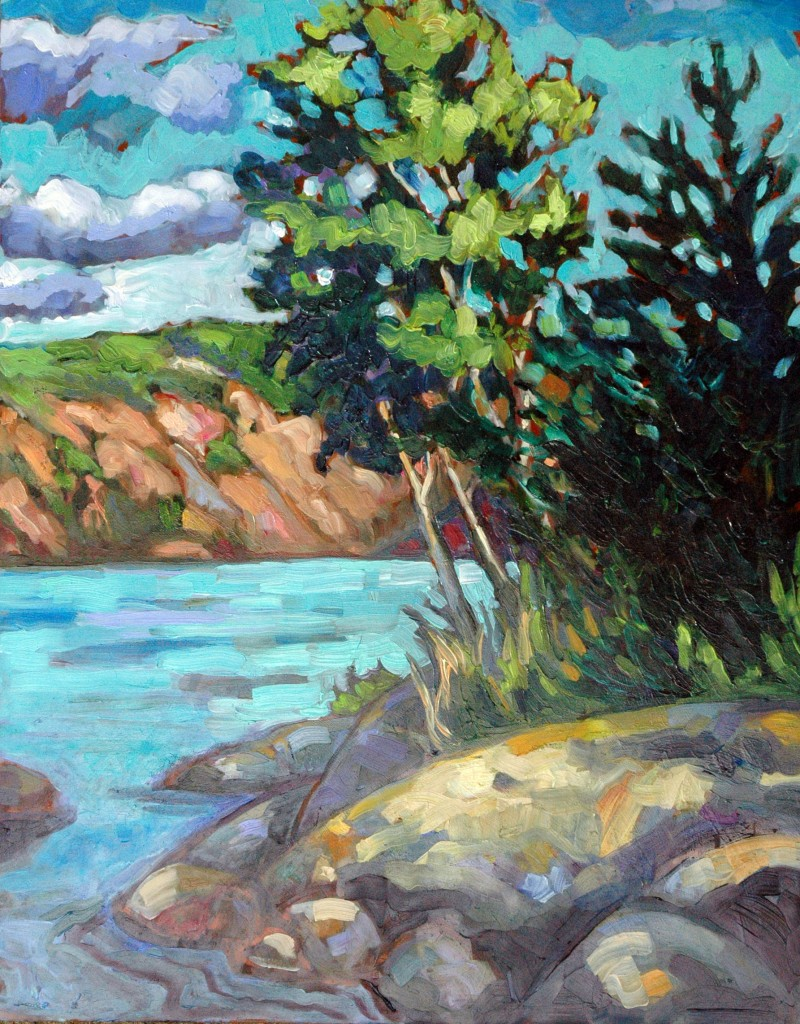 "Bon Echo Rock, 11x14"", Oil on Panel, Corinne Garlick"